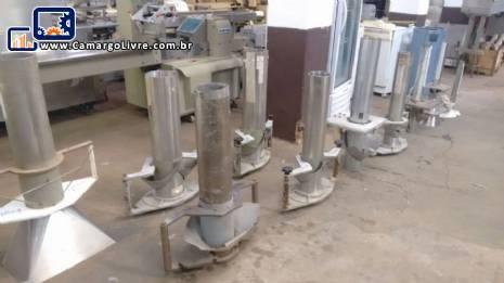 Formatos colarinhos tubos formadores embaladora vertical