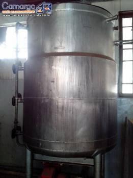 Tanque encamisado inox para doces 1.500 kg