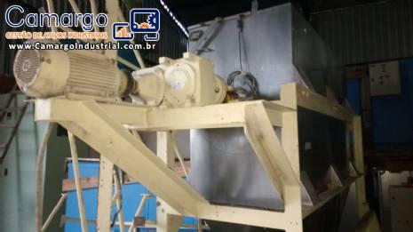 Misturador de pás 1500 L inox
