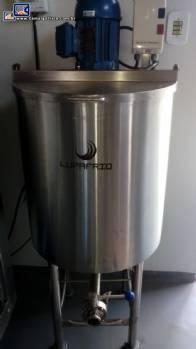 Tanque misturador em inox para caldas 30 L Lupafrio