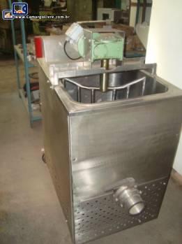 Tacho aquecedor para produtos pastosos em aço inox