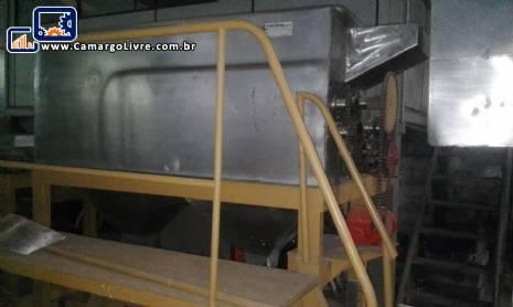 Descascador para batatas continuo industrial em aço inox