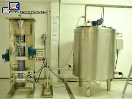 Linha para fabricação de cremosinho geladinho