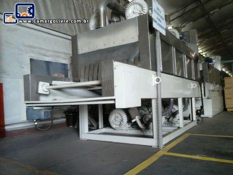 Máquina industrial para lavar peças / caixas plásticas Zirtec Proceco - Nova sem uso
